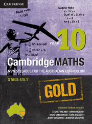 Cambridge Mathematics GOLD NSW Syllabus for the Australian Curriculum Year 10