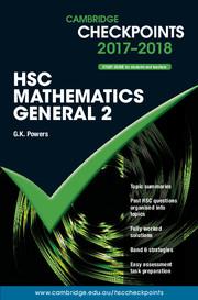 Cambridge Checkpoints HSC Mathematics General 2 2017-18