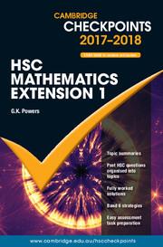 Cambridge Checkpoints HSC Mathematics Extension 1 2017-19