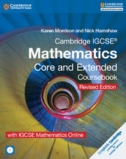 Cambridge IGCSE® Mathematics Core and Extended Coursebook with CD-ROM and IGCSE Mathematics Online Revised Edition