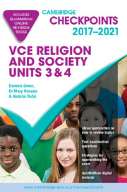 Cambridge Checkpoints VCE Religion and Society Units 3&4 2017-21