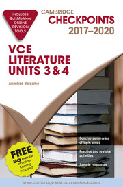 Cambridge Checkpoints VCE Literature 2017-20