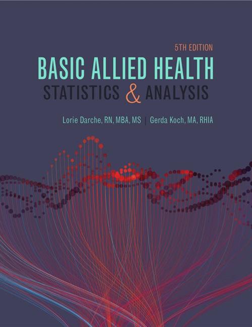 Basic Allied Health Statistics and Analysis, Spiral bound