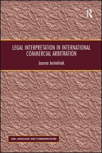 Legal Interpretation in International Commercial Arbitration