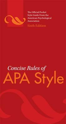 Concise Rules of APA Style 6ed