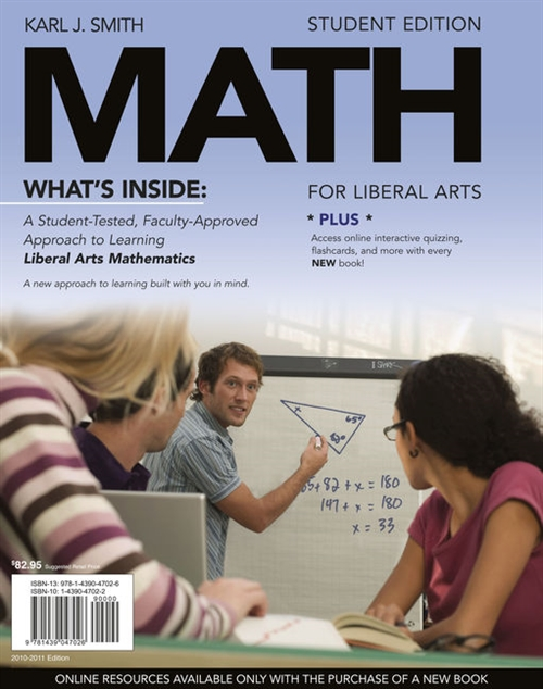 MATH for Liberal Arts (with Arts CourseMate with eBook Printed Access Card)