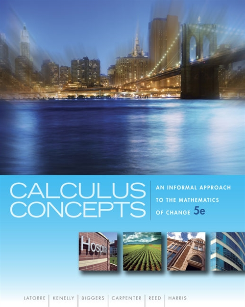 Calculus Concepts : An Informal Approach to the Mathematics of Change