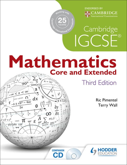 Cambridge IGCSE Mathematics Core and Extended 3rd Edition + CD