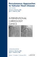 Percutaneous Approaches to Valvular Heart Disease Vol 1-1