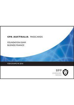 CPA Australia 7A - Business Finance Passcards