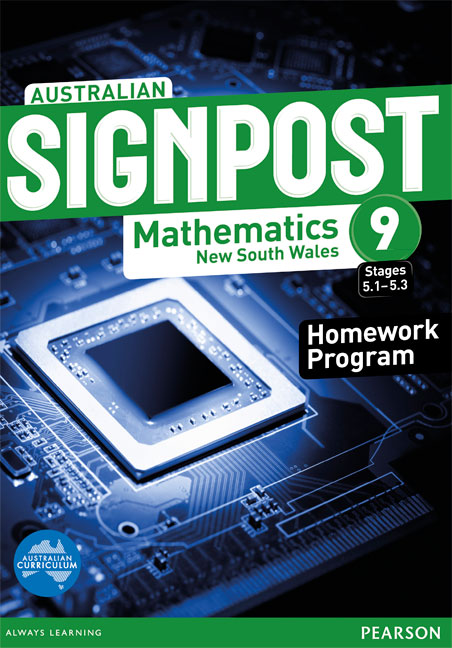 Australian Signpost Mathematics New South Wales 9 (5.1-5.3) Homework Program