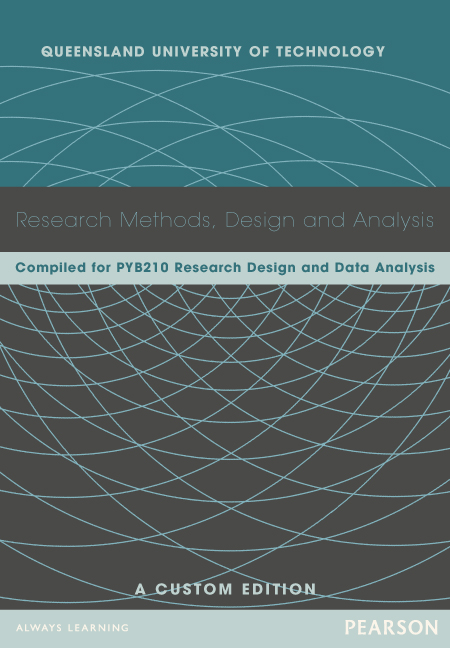 Research Methods, Design and Analysis (Custom Edition)