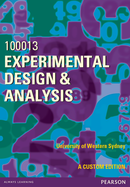 Experimental Design & Analysis 100013 (Custom Edition)