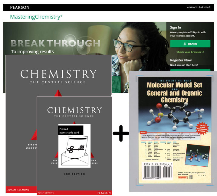 Value Pack Chemistry: The Central Science + Masteringchemistry + Molecular Model Set for General & Organic Chemistry