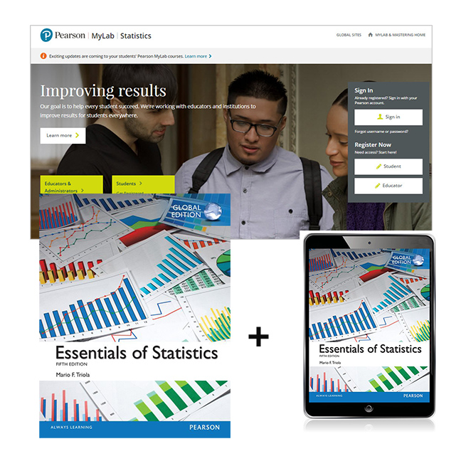Essentials of Statistics, Global Edition + MyLab Statistics with eText