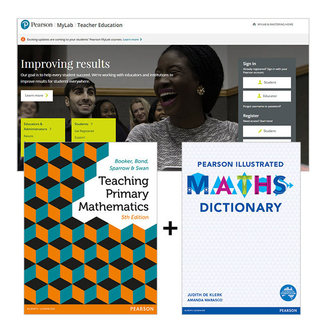 Teaching Primary Mathematics + Pearson Illustrated Maths Dictionary + MyLab Education with eText