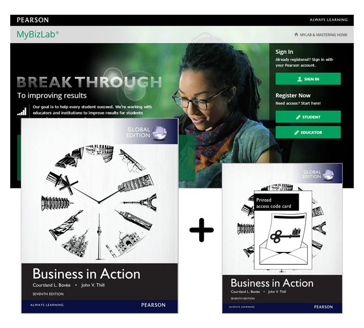 BUSS1001 Business in Action Global Edition + MyBizLab Access Card