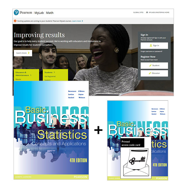 Basic Business Statistics + MyLab Math with eText