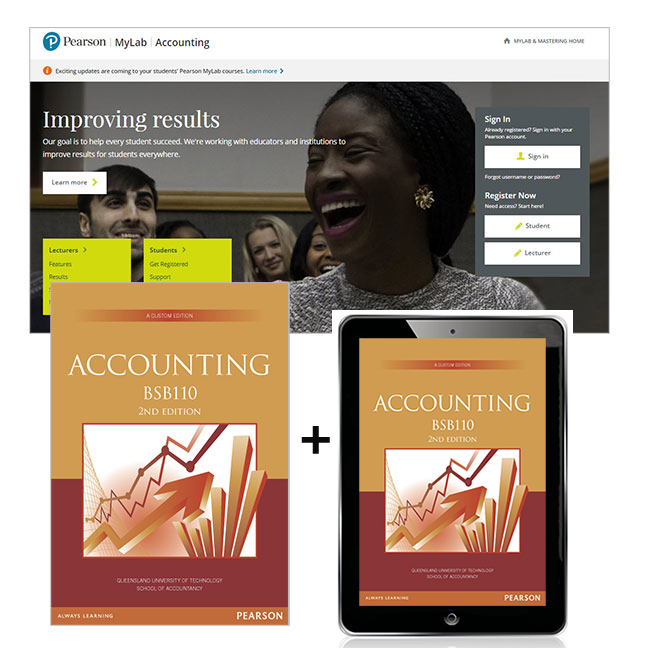 Accounting BSB110 + MyLab Accounting with eText (Custom Edition)