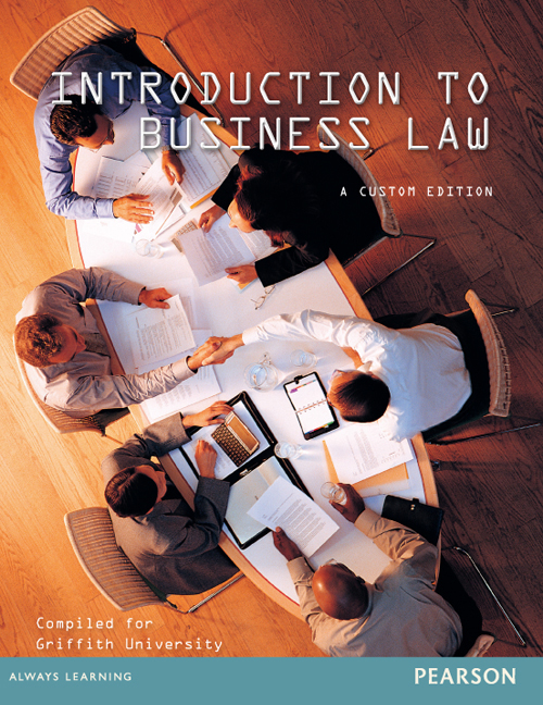 Introduction To Business Law (Custom Edition)
