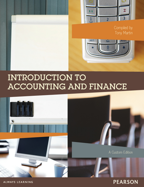 Introduction to Accounting and Finance (Custom Edition)