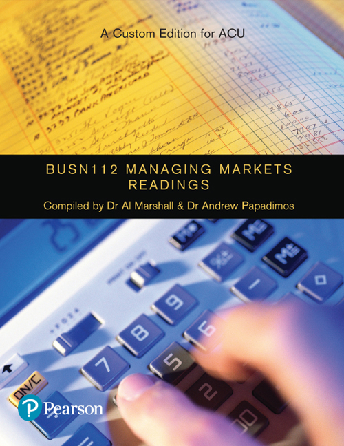 Managing Markets Readings BUSN112 (Custom Edition)