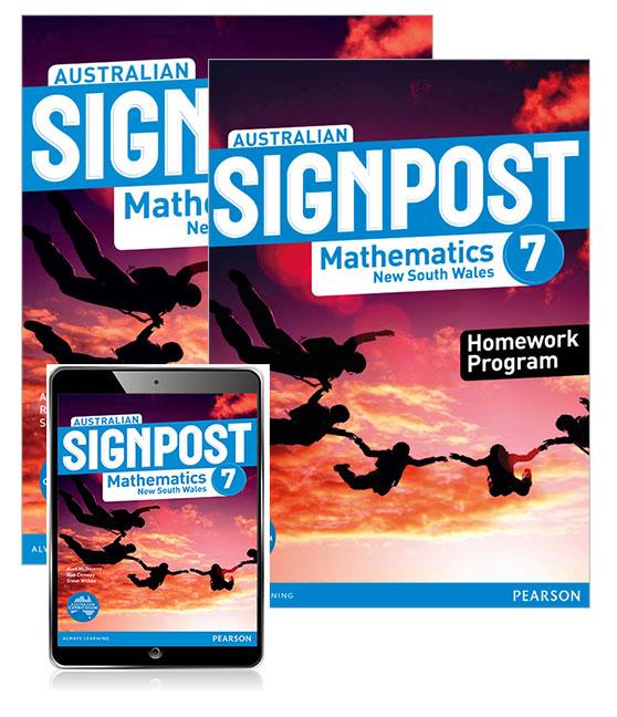 Australian Signpost Mathematics New South Wales 7 Student Book, eBook and Homework Program