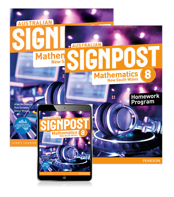Australian Signpost Mathematics New South Wales 8 Student Book, eBook and Homework Program