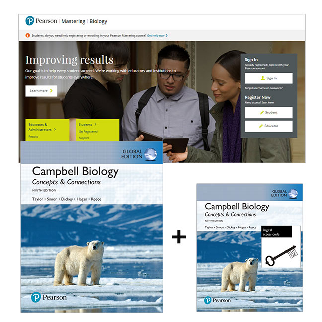Campbell Biology: Concepts & Connections, Global Edition + Mastering Biology with eText