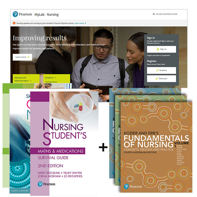 Kozier and Erb's Fundamentals of Nursing + MyLab NursingLab without eText + Skills in Clinical Nursing + Nursing Student's Clinical Survival Guide + Nursing Student's Maths & Medications Survival Guide