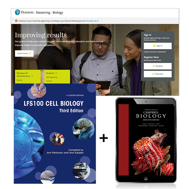 Cell Biology LFS100 (Custom Edition) + Mastering Biology with eText