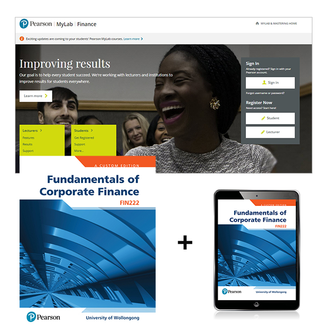 Fundamentals of Corporate Finance FIN222 (Custom Edition) + MyLab Finance with eText