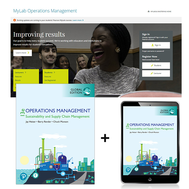 Operations Management: Sustainability and Supply Chain Management, Global Edition + MyLab Operations Management with eText