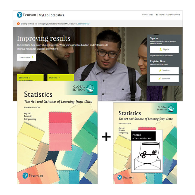 Value Pack Statistics: The Art & Science of Learning from Data Global Edition + MyLab Statistics with eText