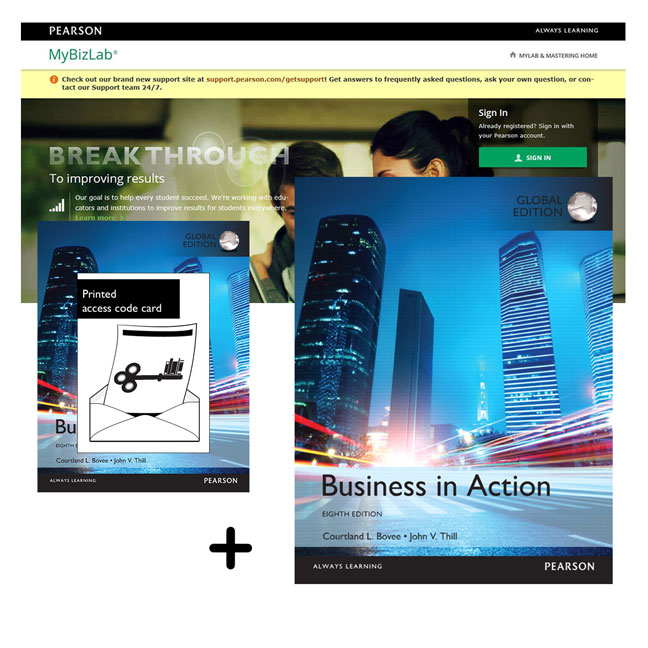 Value Pack Business in Action Global Edition + MyBizLab with eText