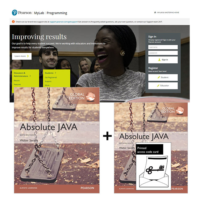 Absolute Java, Global Edition + MyLab Programming with eText