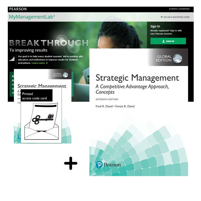 Value Pack Strategic Management: A Competitive Advantage Approach, Concepts, Global Edition + MyManagementLab with eText