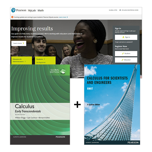 Calculus: Early Transcendentals, Global Edition + Calculus For Scientists & Engineers (Custom Edition) + MyLab Math