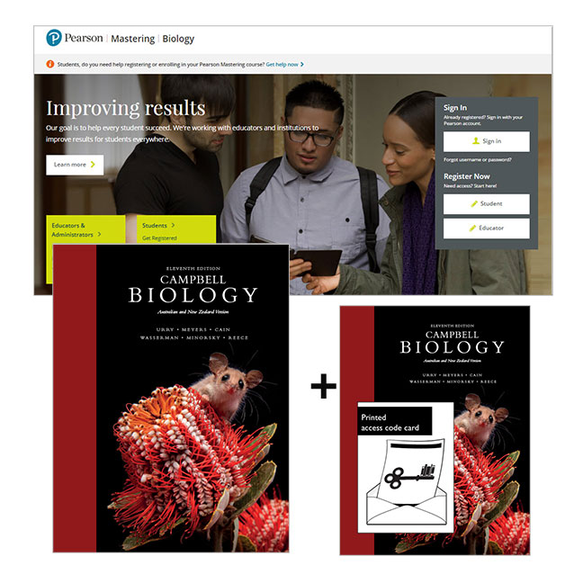 Campbell Biology: Australian and New Zealand edition + Mastering Biology with eText