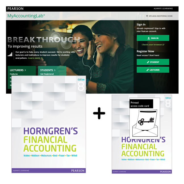 Horngren's Financial Accounting + MyLab Accounting with eText