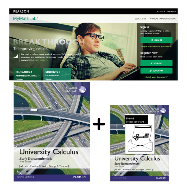 Value Pack University Calculus, Early Transcendentals Global Edition + MyMathLab with eText
