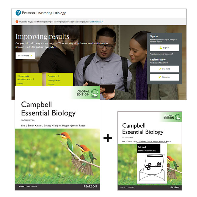 Campbell Essential Biology, Global Edition + Mastering Biology with eText