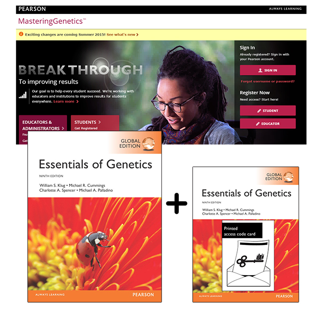 Essentials of Genetics, Global Edition + Mastering Genetics with eText