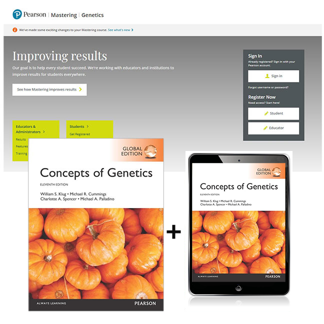 Concepts of Genetics, Global Edition + Mastering Genetics with eText