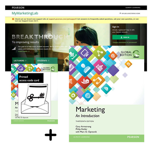 Value Pack Marketing: An Introduction Global Edition + MyMarketingLab with eText