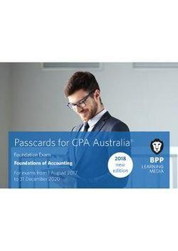 CPA Australia 1A - Foundations of Accounting Passcards