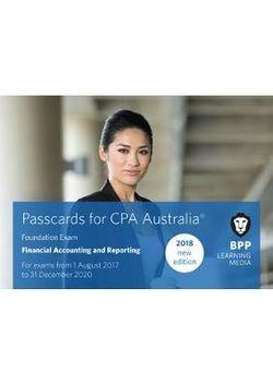 CPA Australia 3A - Financial Accounting and Reporting Passcards