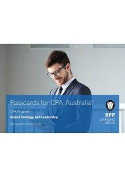 CPA Australia D1 - Global Strategy & Leadership Passcards