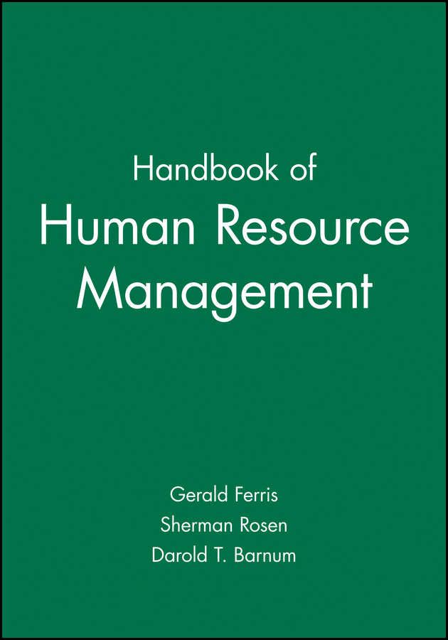 Handbook of Human Resource Management