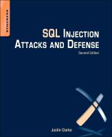 SQL Injection Attacks and Defense, 2e